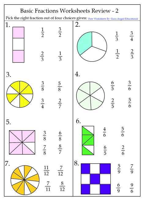 Fraction Worksheets  New Calendar Template Site