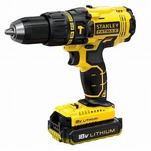 Stanley Fat Max : stanley fatmax cordless 18v 2ah li ion brushed combi drill 2 batteries fmc626d2k bqgb ~ Eleganceandgraceweddings.com Haus und Dekorationen