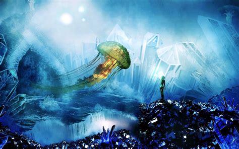 Beautiful 3d Wallpaper by Beautiful 3d Jellyfish Wallpapers Hd Desktop And Mobile