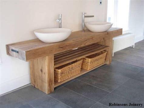 oak sink basin wash stand solid rustic oak bespoke hand