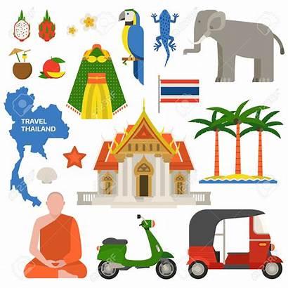 Thailand Thai Vector Travel Illustration Clip Clipart