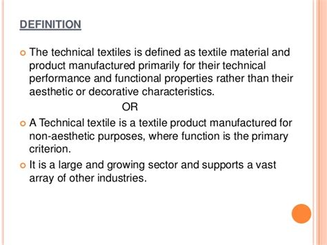 introduction  technical textiles
