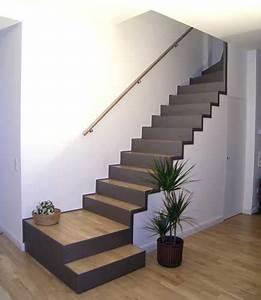 Holzstufen Auf Beton : die besten 25 treppe ideen auf pinterest treppenaufgang ~ Michelbontemps.com Haus und Dekorationen