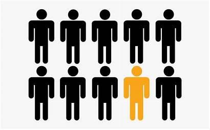 Odd Person Clipart Icon Crowd Cartoon Cliparts