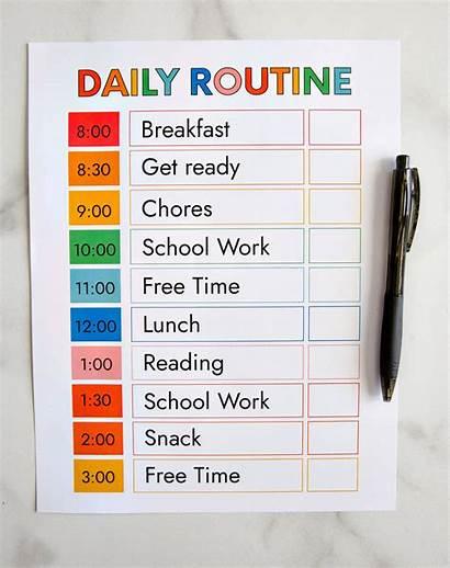 Schedule Routine Daily Template Printable Thirtyhandmadedays Classroom