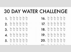 30 Day Water Challenge Love and Marriage