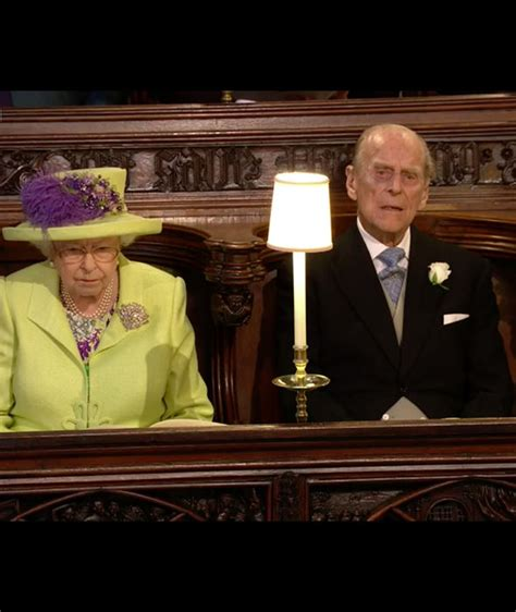 Queen in green for Meghan and Harry's Royal Wedding