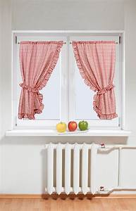 Rideau Pour Cuisine : voilage salon inspirations avec rideau cuisine rouge ~ Nature-et-papiers.com Idées de Décoration
