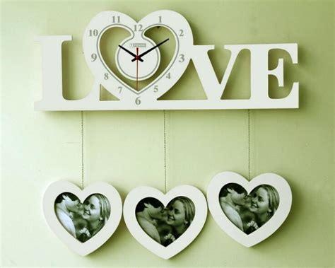 Contemporary Clock Wood Photo Frame Large Wall Clock