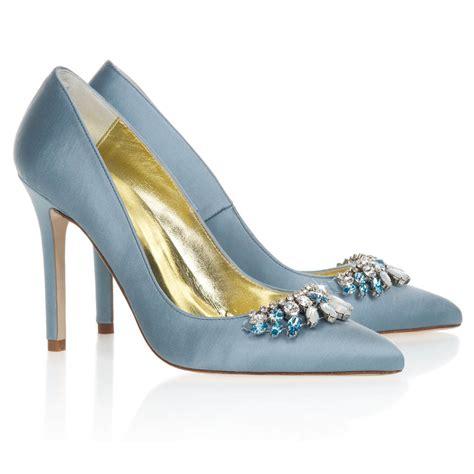 bridal shoes designer freya chandelier blue