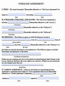 sublease agreement template real estate forms With subletting lease agreement template