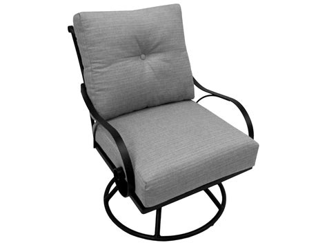meadowcraft monticello swivel rocker dining chair