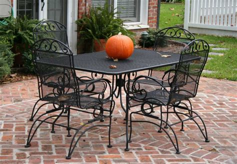 furniture cool cast iron patio set table chairs garden