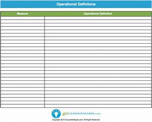 operational definition template example With what is the meaning of template