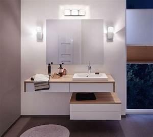 eclairage salle de bains lequel choisir cote maison With miroir salle de bain spot integres