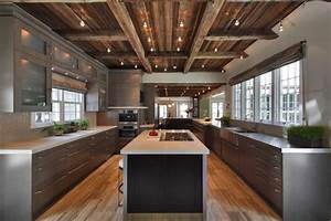 defining elements of the modern rustic home With what kind of paint to use on kitchen cabinets for mid century brass wall art