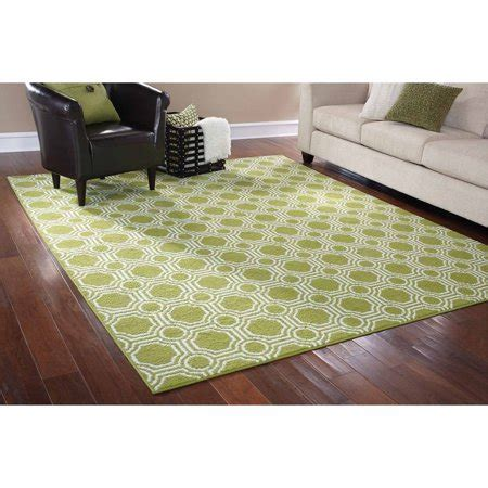 Rug In A Bag by Mainstays Rug In A Bag Mosaic Area Rug Green White