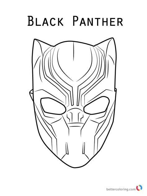 Kleurplaat Black Panther by Black Panther Mask Coloring Page Free Printable Coloring