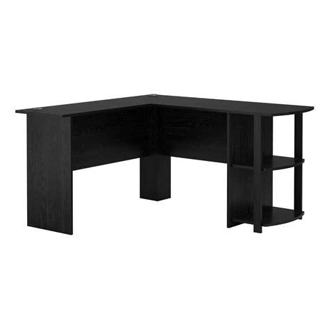 table l livivo l shape black office computer desk with book