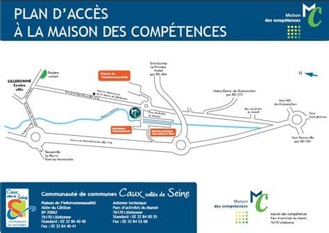 plan acces maison des competences lillebonne