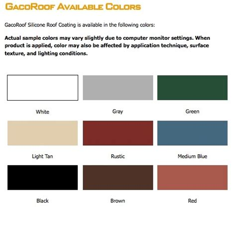 Elastomeric Deck Coating Colors by Roof Gaco Roof