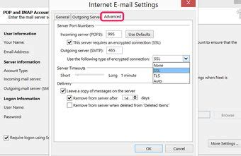 Office 365 Outlook Gmail Settings by Verizon Blocking Outgoing Smtp Authentication Chron