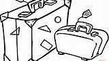 Coloring Trip Suitcase Getcolorings Travel Printable sketch template