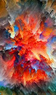 Fantasy Colorful abstract watercolor painting Landscape ...