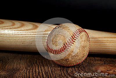 vintage baseball  wood bat stock photo image