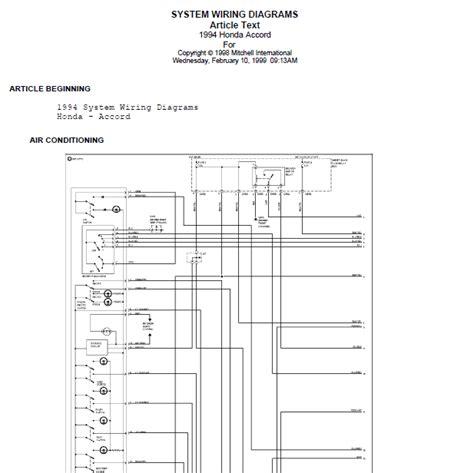 Honda Accord Door Lock Wiring Diagram by Repair Manuals 1996 Honda Accord Wire Diagrams