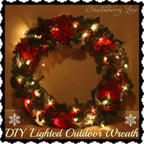 huckleberry diy lighted outdoor wreath tutorial