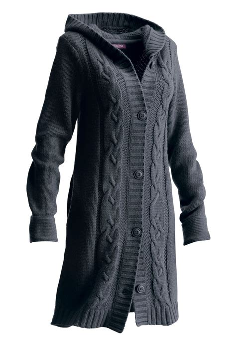 plus size cardigan sweaters taillissime hooded cardigan