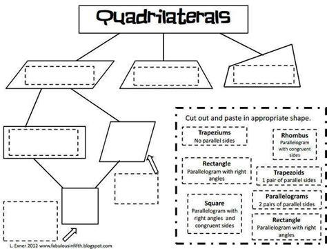 classifying quadrilaterals worksheet homeschooldressage com
