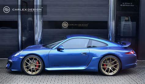 electric porsche 911 porsche 911 gets electric blue interior by carlex design