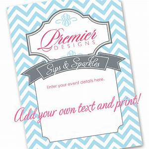 Editable premier designs jewelry party invitation download for Premier designs party invitations