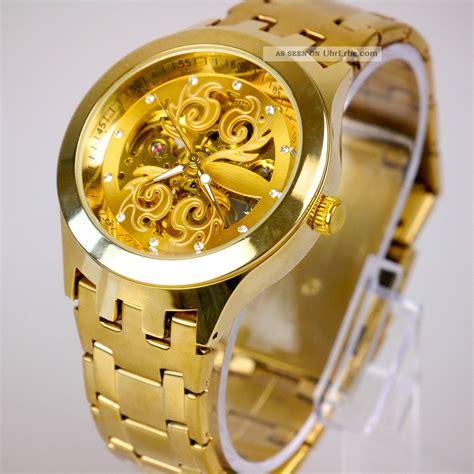 uhren herren gold elegante herren vive automatik armband uhr goldene uhrwerk gold uvp 69