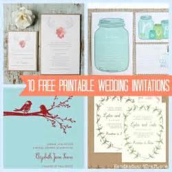 DIY Wedding Invitations Templates Printable Free