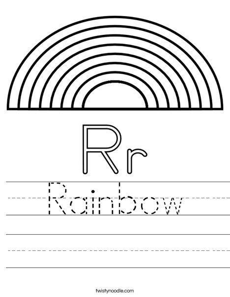 r is for rainbow worksheet rainbows preschool theme