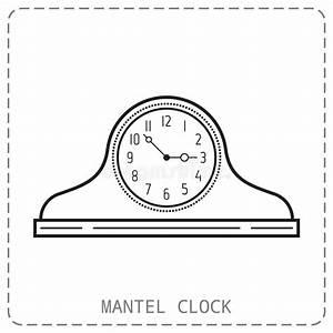 Mantel Clock Stock Vector  Illustration Of Mantel