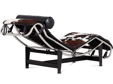 chaise lc4 le corbusier lc4 chaise longue cowhide platinum replica