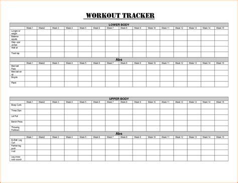 6 Workout Sheet Divorce Document