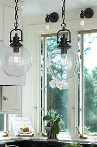 Clear glass globe industrial pendant wine