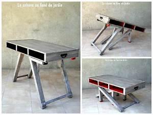 best table de jardin en bois de palette contemporary With superior maison en tronc d arbre 1 construire une table de jardin en bois de palette sur