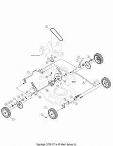 Troy Bilt 12av834q711  2006  Parts Diagram For Drive And