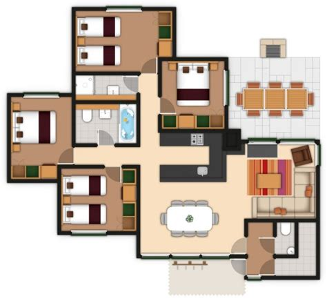 Executive 4 Bedroom Lodge by Center Parcs 3 Bedroom Woodland Lodge Floor Plan