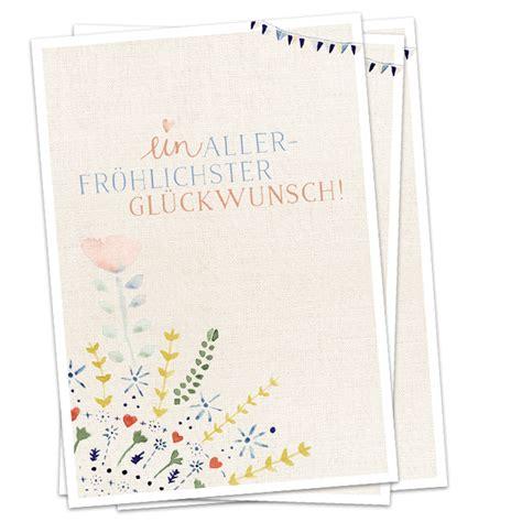 ein allerfroehlischter glueckwunsch   postkarten