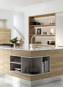 Arbeitsplatte Küche Eiche : schlichte holz k che mit kochinsel in modernem design ~ A.2002-acura-tl-radio.info Haus und Dekorationen