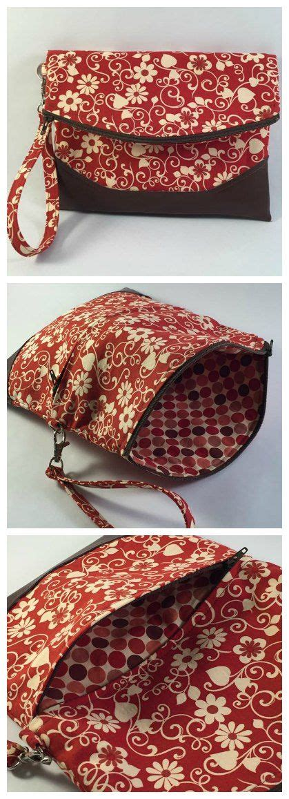 foldover clutch purse sewing pattern  heidi bag