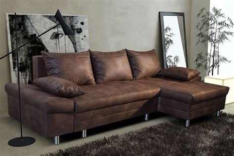 canap cuir vieilli marron canapé d 39 angle convertible en tissu marron vieilli ultimo