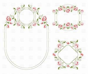 Romantic floral wedding frames, 18725, Borders and Frames ...